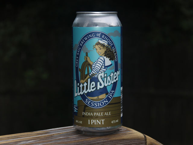 Little Sister, a Session IPA brewed by Grey Sail Brewing Company