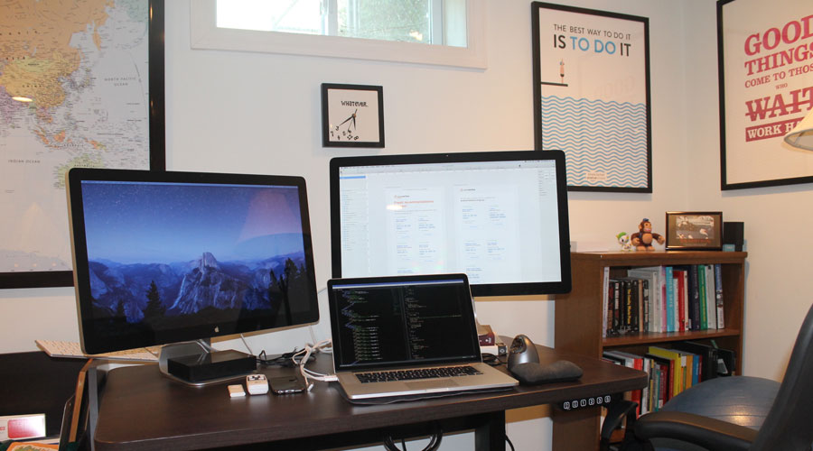 My home office desk.