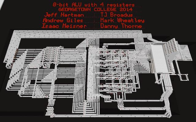Computer ALU built in Minecraft