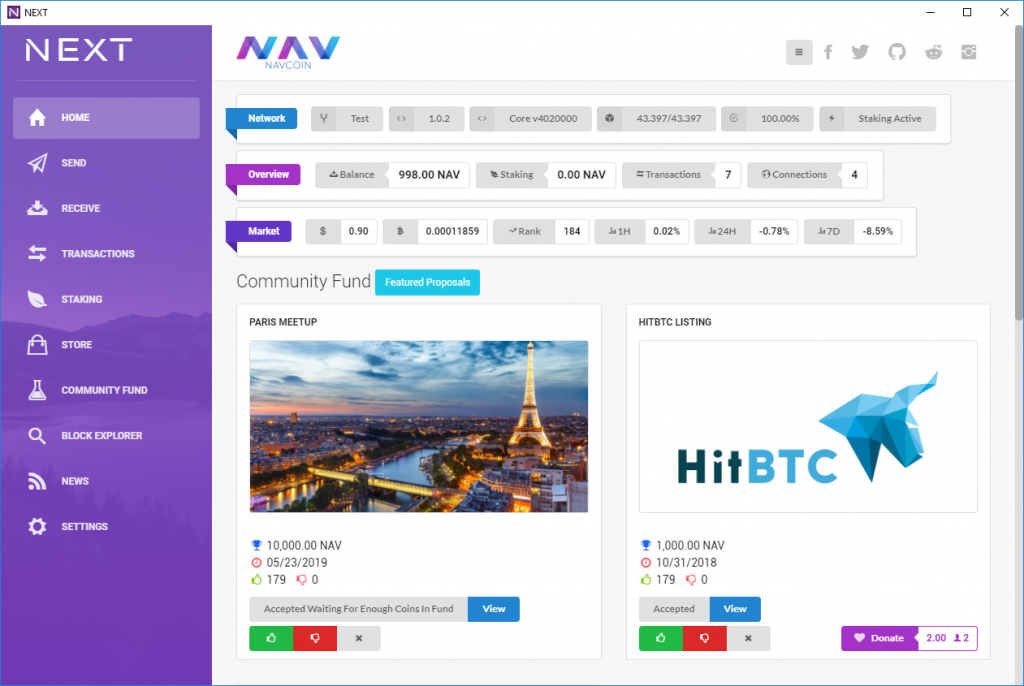 NavCoin Next Wallet