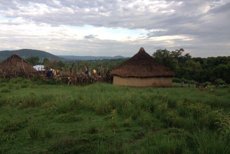 Het Afrikaanse landschap waar ik rustig doorheen lopen mag