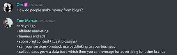 How do people make money from blogs?