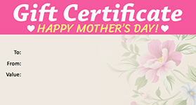 Gift Certificate Mother's Day 04