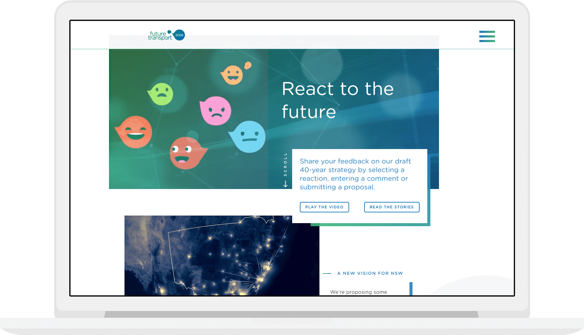 React to the Future - Animated maps