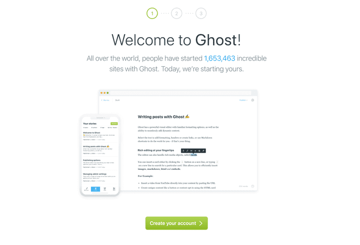 Setup Ghost Screen