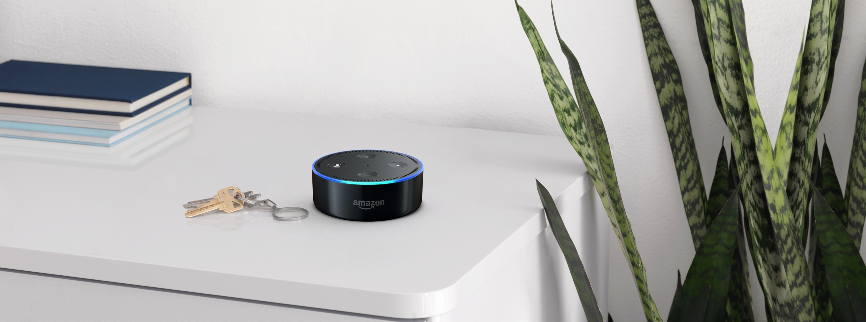 The Amazon Echo Dot smart voice assistant