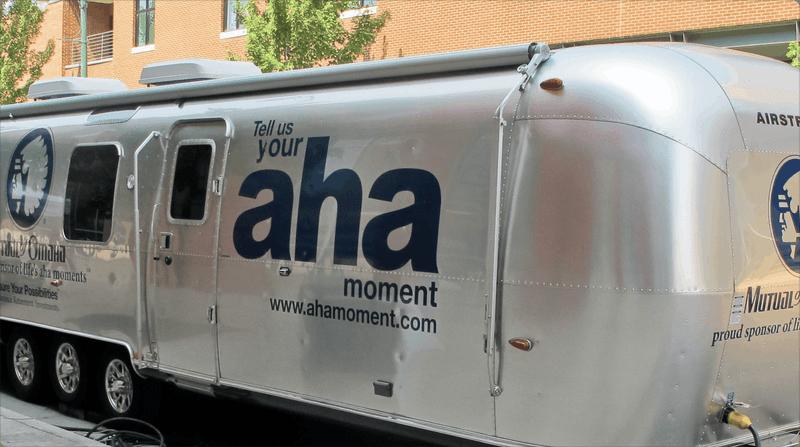Aha moment Airstream trailer
