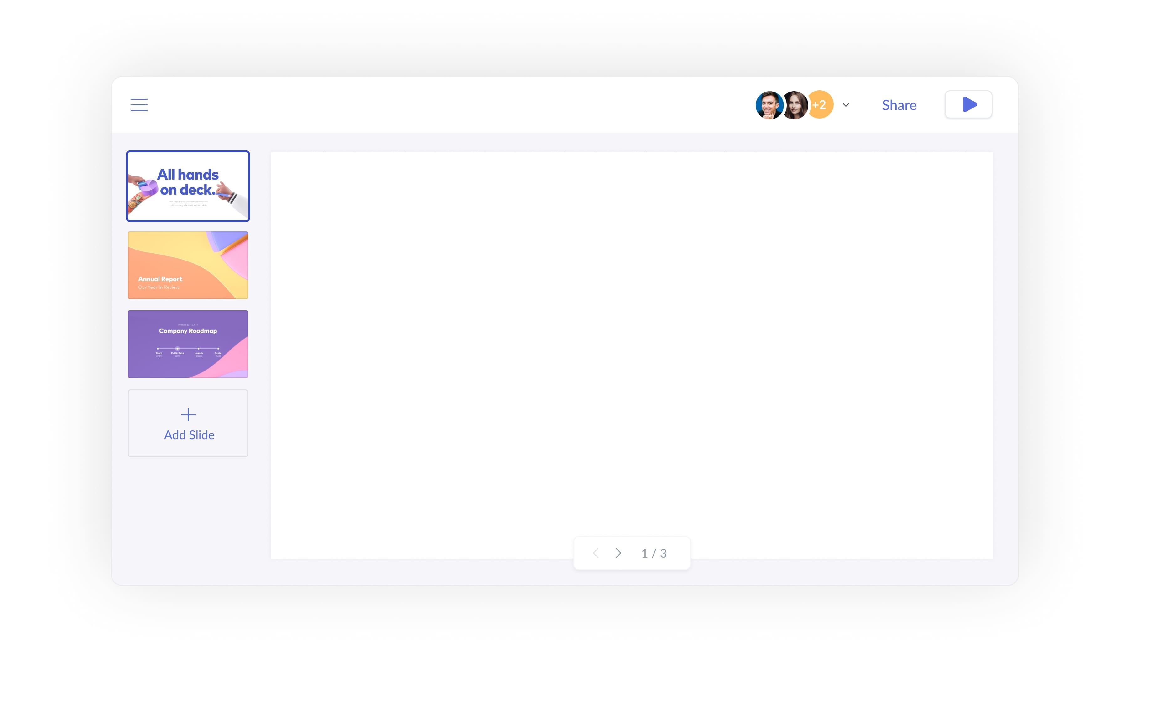 Presentation UI