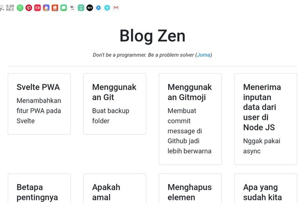 Screenshot of Blog Zen