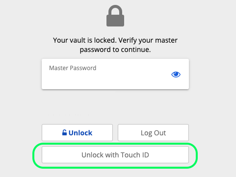 Unlock with Touch ID