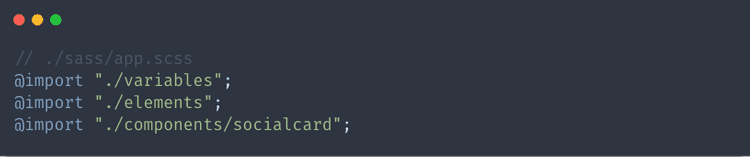 Import social card styles in app.scss