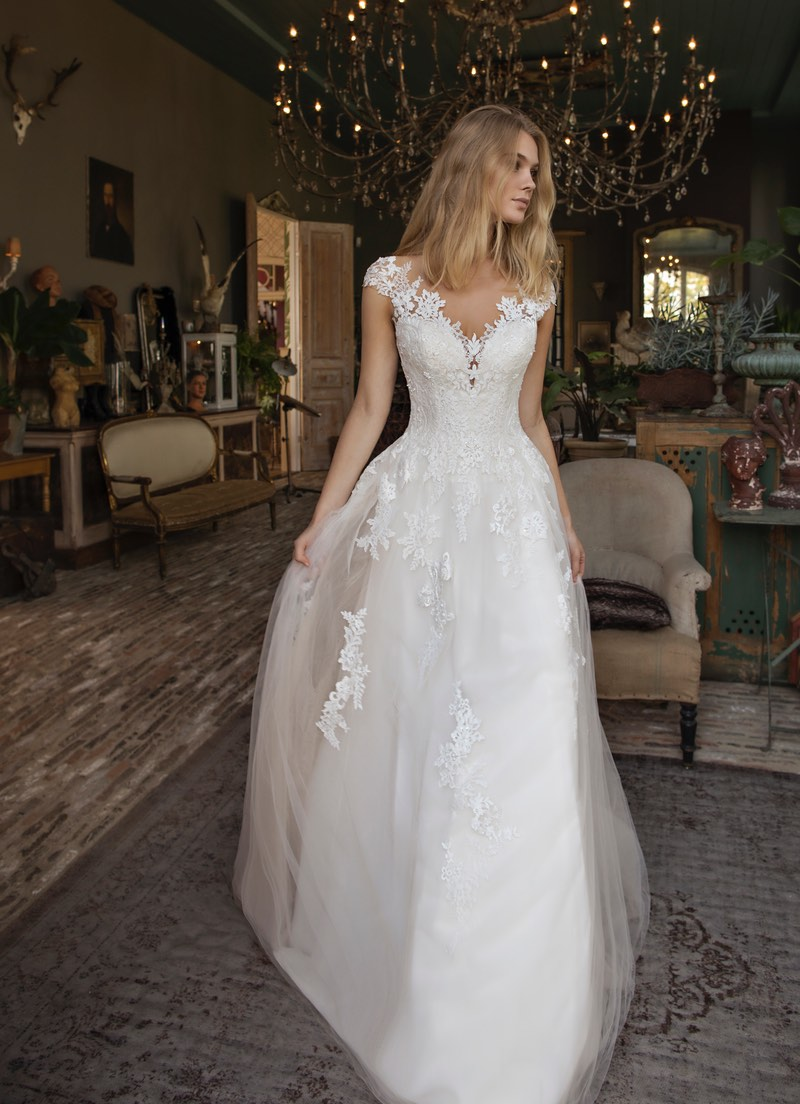 Blue by Modeca Detroit wedding dress
