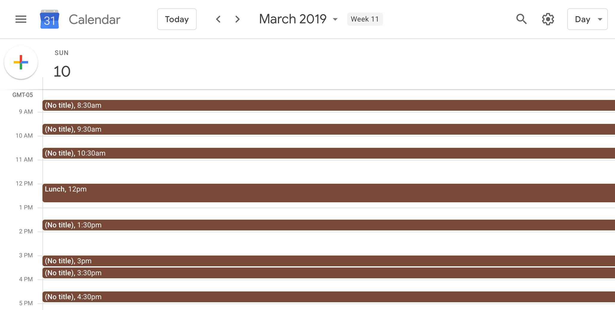 Fragmented schedule