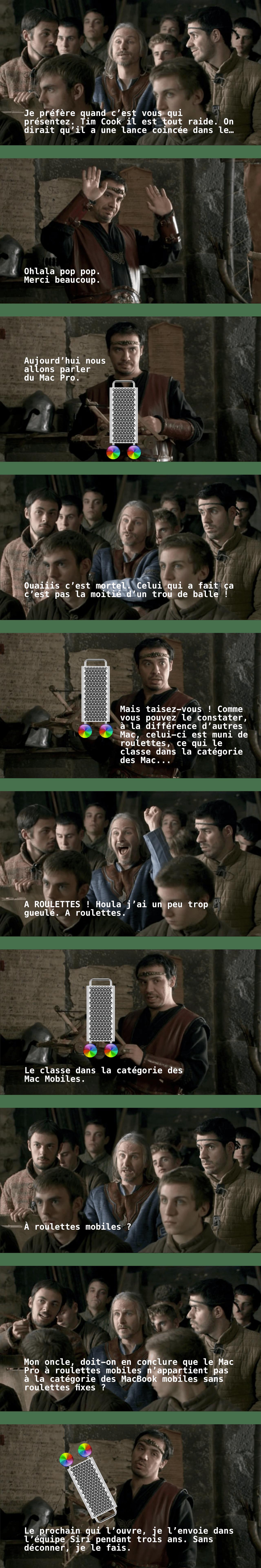 Mac Kaamelott Pro À Roulettes