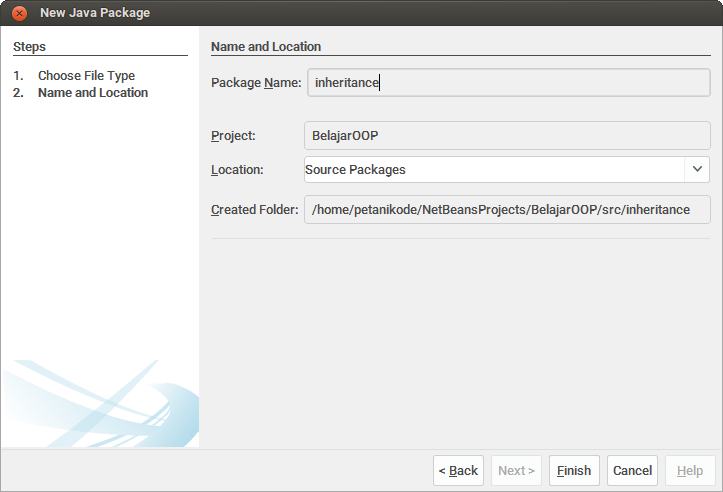 Make a New Package at netbeans