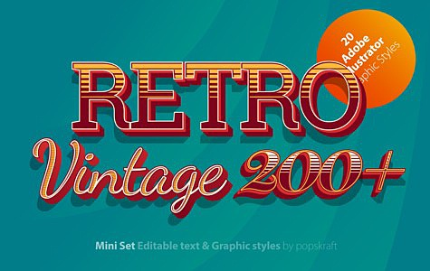 Retro Ultimate Illustrator styles retro_red_1_ai_styles_cover.jpg