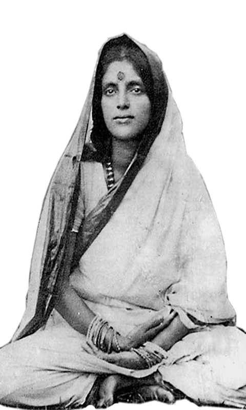 The mystic Anandamayi Ma in a state of Samadhi (mystic bliss). Public domain