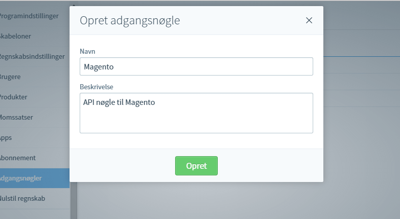 Integration med Magento