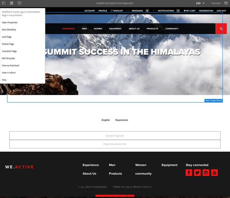 AEM Page Builder