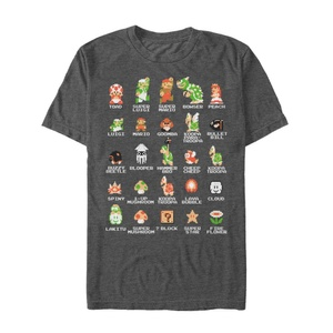 Mario Pixel Cast - T Shirt