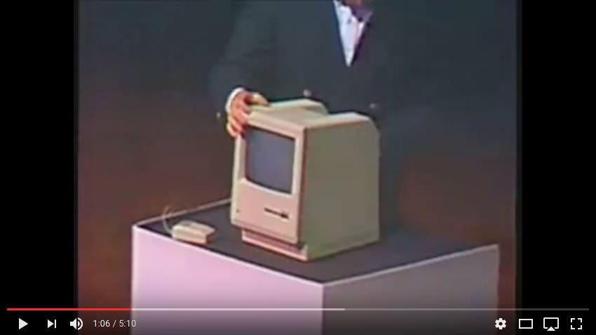 Steve Jobs présente le Macintosh