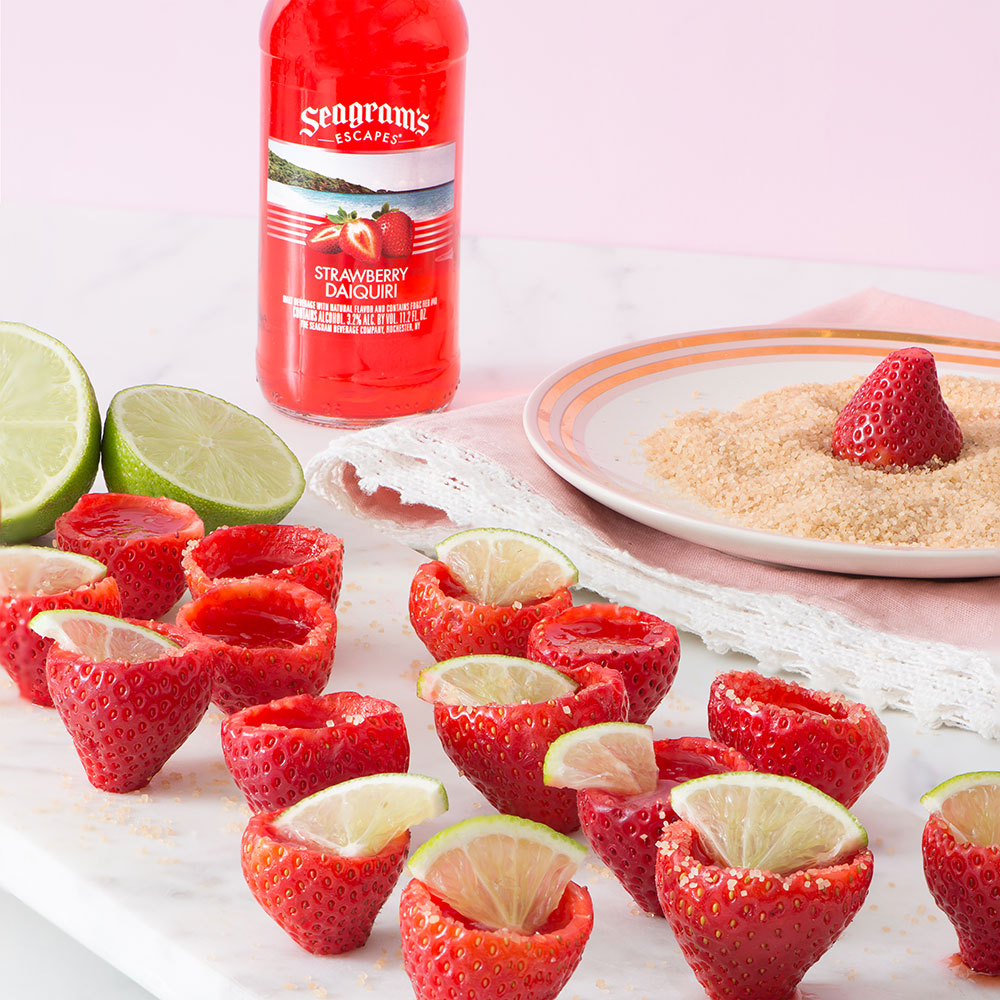Strawberry Daiquiri Jelly Shooters Recipe Image