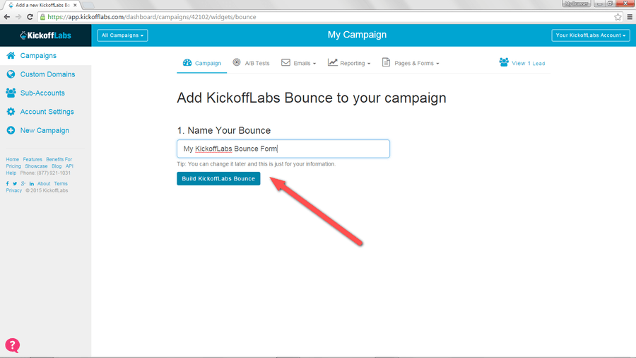 Name_and_Build_KickoffLabs_Bounce_Form