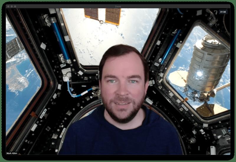 International Space Station Zoom virtual background