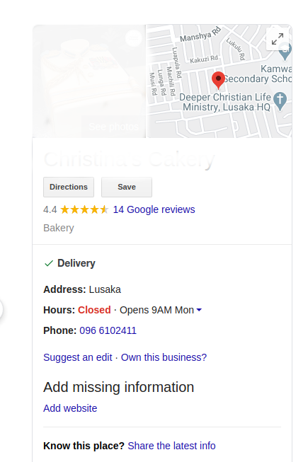 Business to Google My Business Graph