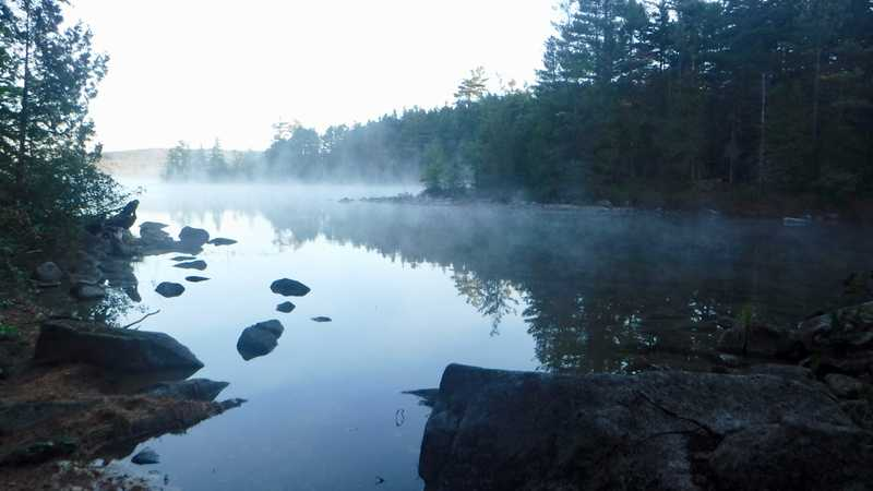 Rainbow Lake at morning