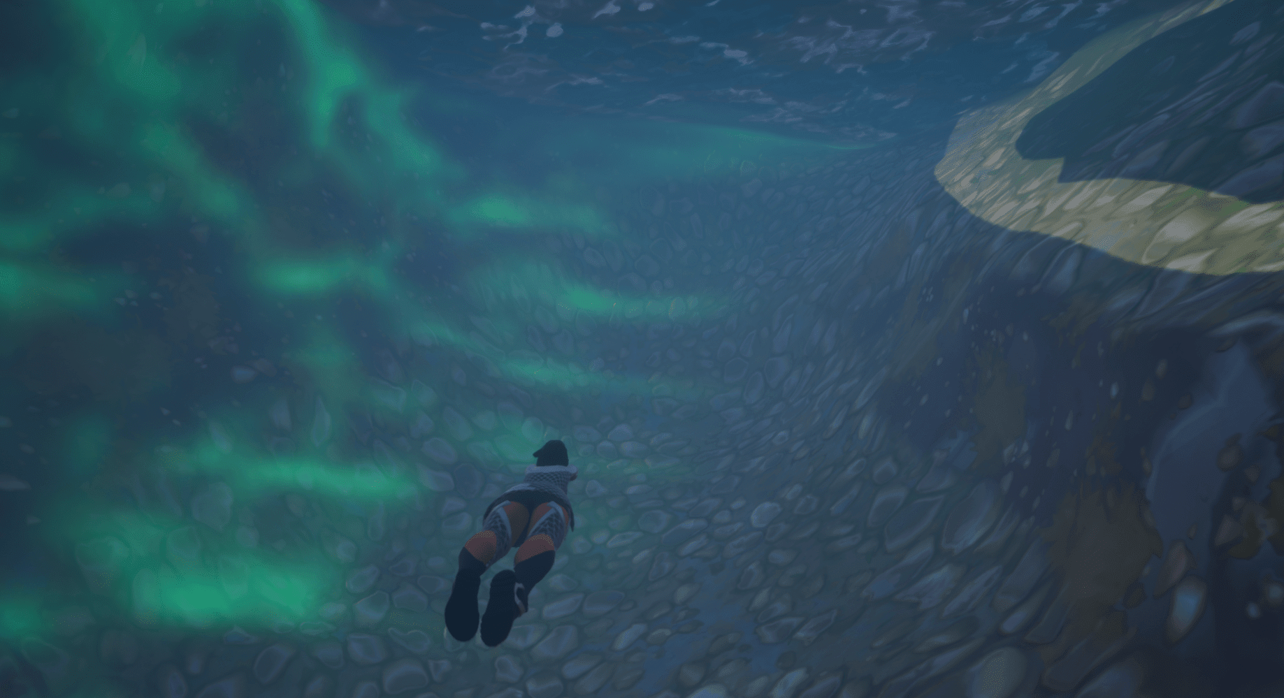 River Materials Underwater