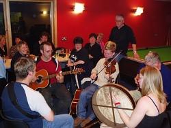 Tunes in the Fetlar Hall.