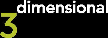 3dimensional Logo weiss