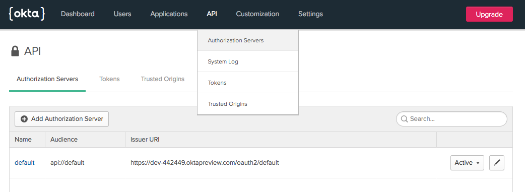 Find the authorization server URL
