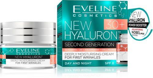 EVELINE New Hyaluron 30+ mélyhidratáló arckrém a kezdődő ráncok ellen 50 ml