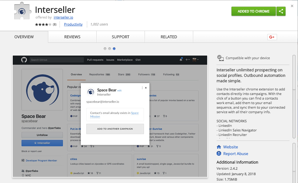 Interseller's Chrome Extension