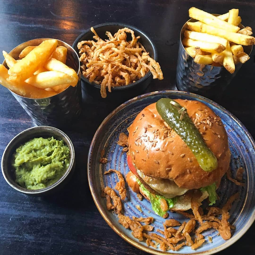 Nation of Shopkeepers burger and chips