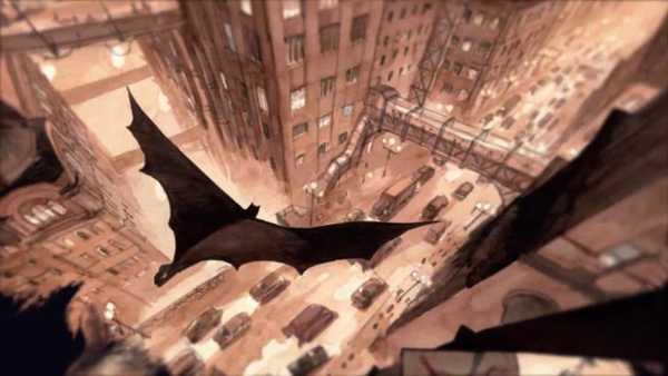 homem morcego sobrevoa gotham na hq batman o príncipe encantado das trevas da DC