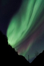 Aurora bursting on the highway