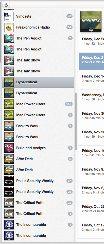 Fixing duplicate podcast subscriptions in iTunes
