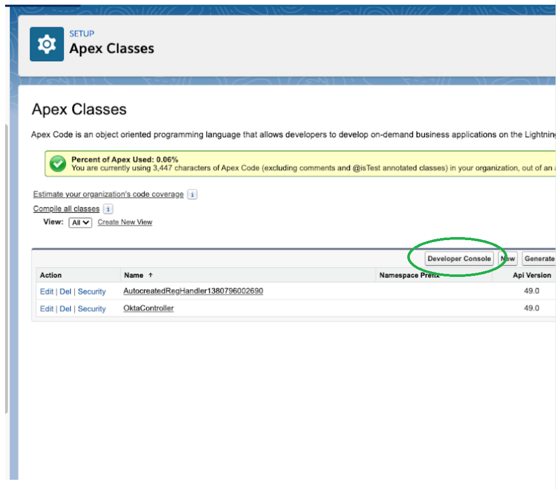 Salesforce classes