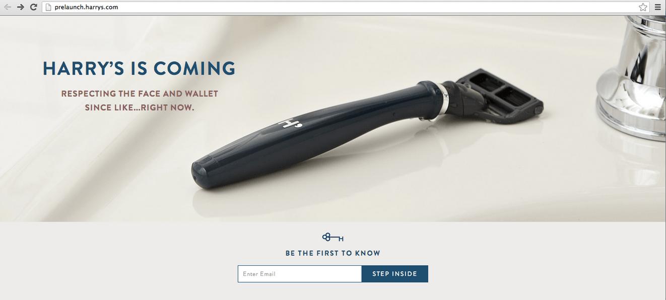 harrys_launch_splash_page