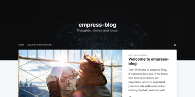 Screenshot of a page created with empress-blog - Casper