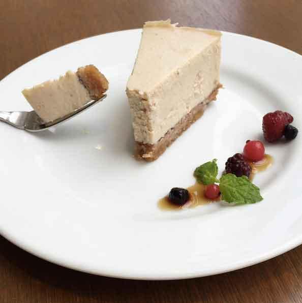 Vegan cheesecake at Pure Cafe