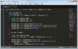 edytory html - sublimetext