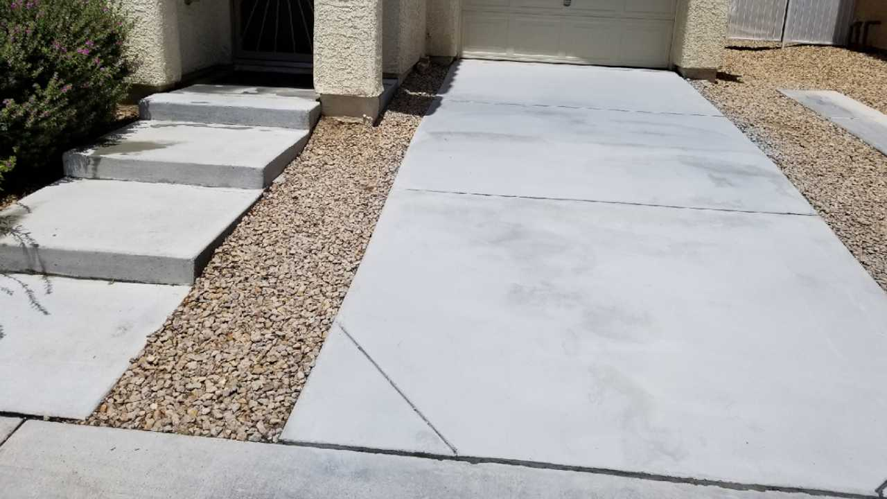 First driveway after cleaning