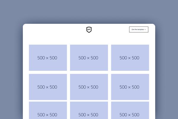Landing template screenshot