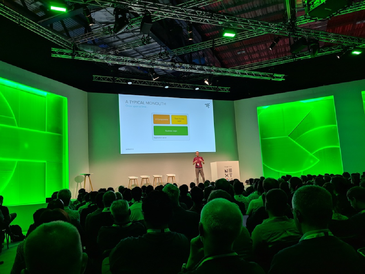 Matt Bates speaking at Google NEXT 2018