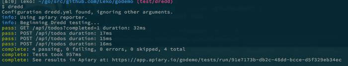 APIドキュメントでAPIサーバをテストする