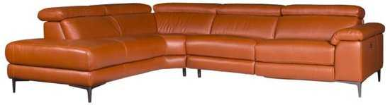 Hoekbank Lupine Chaise Longue Links Leer Oranje M5659 2 25 X 2 90 Mtr Breed 9200000083646643_2 47 cm